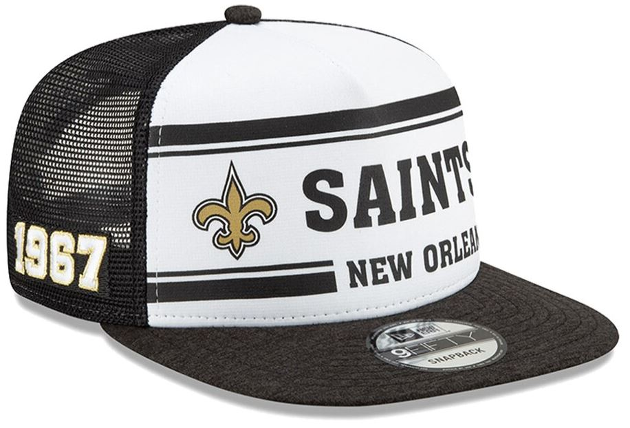 New Orleans Saints Cap - 2019 NFL Sideline Home Official 9FIFTY 1970s Snapback Adjustable Hat