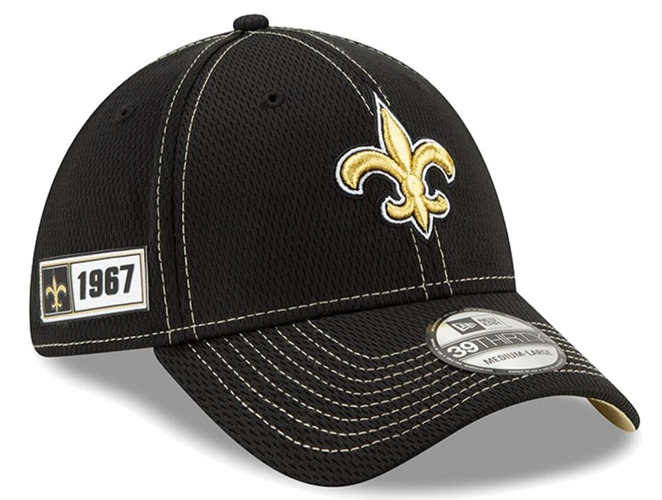 New Orleans Saints Cap - 2019 NFL Sideline Road Official 39THIRTY Flex Hat