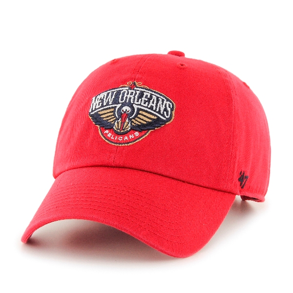 New Orleans Pelican Red Adjustable Relax-Fit Cap-47 Brand Clean Up