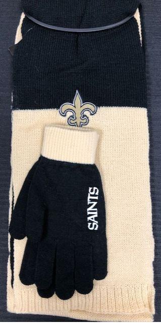 New Orleans Saints Scarf - Colorblock Glove/Scarf Set