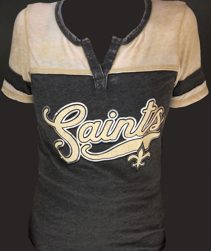 New Orleans Saints Shirt - Distressed Script SAINTS