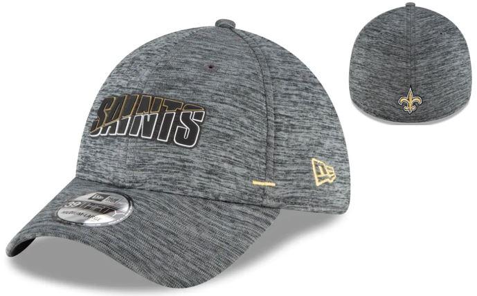 New Orleans Saints Cap - 2020 Sideline Graphite Flex