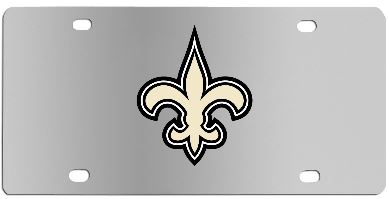 New Orleans Saints Auto Tag - Steel