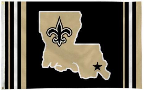 New Orleans Saints Flag - State Stripe 3' X 5'