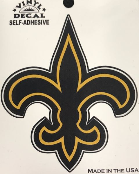 New Orleans Saints Decal - FDL Black and Gold Vinyl