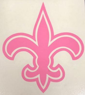 New Orleans Saints Static Cling - Fleur de Lis Pink