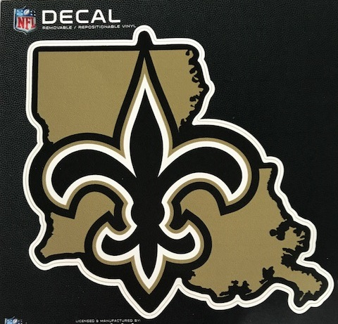 New Orleans Saints Decal - Repositionable State FDL Decal