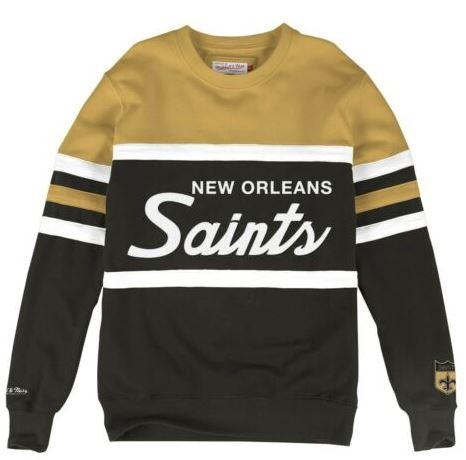 New Orleans Saints Sweat - Mitchell & Ness Head Coach Crew