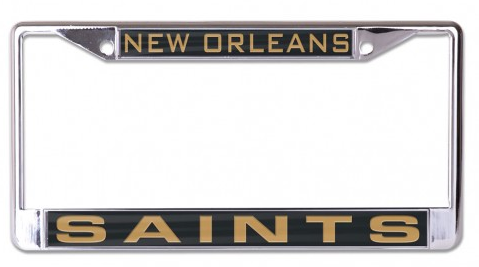 New Orleans Saints Auto Tag Frame - Inlaid Metal