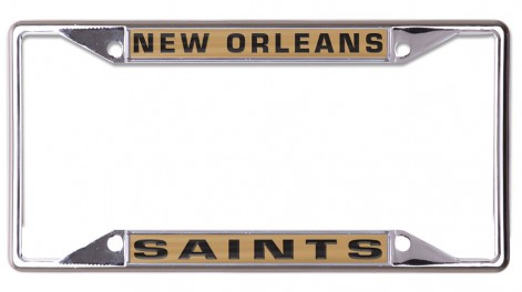 New Orleans Saints Auto Tag Frame - Inlaid Metal SS