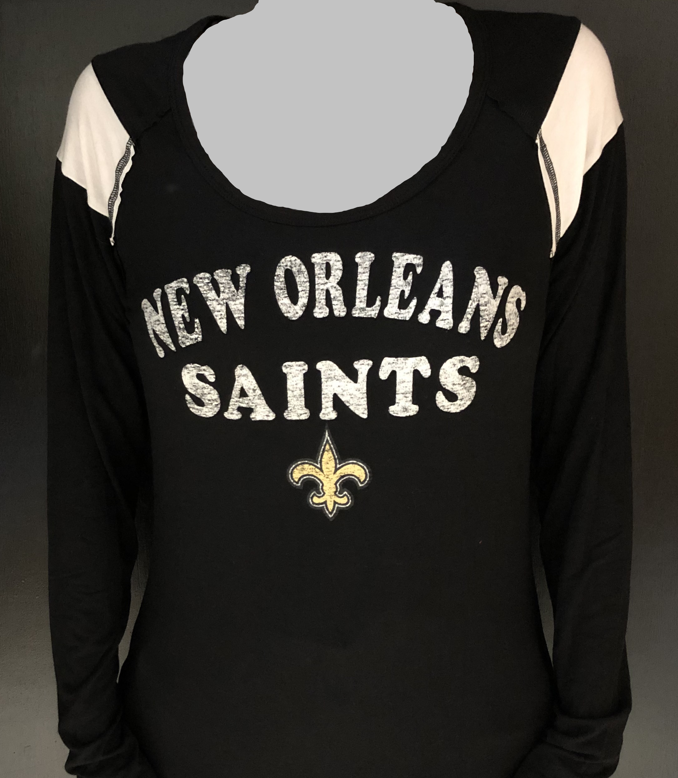 New Orleans Saints Shirt - Distressed Long Sleeve