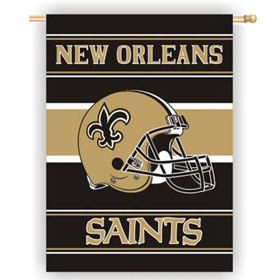 New Orleans Saints 2-Sided Helmet Banner