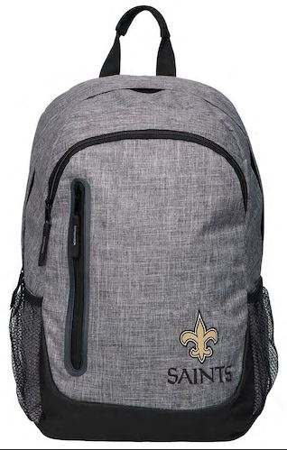 New Orleans Saints Backpack - Bold Grey Collection