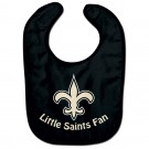 New Orleans Saints Bibs Little Saints Fan Baby Bib - Black
