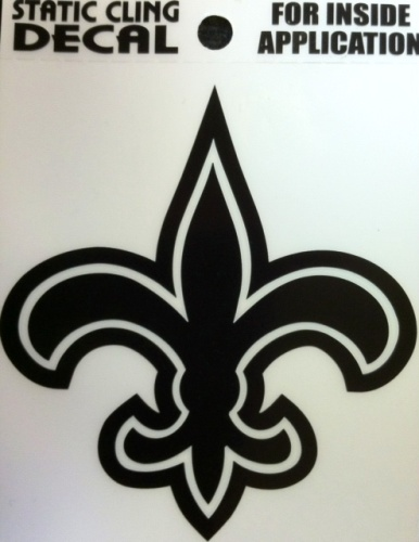New Orleans Saints Static Cling - Black Fleur de Lis Static Cling