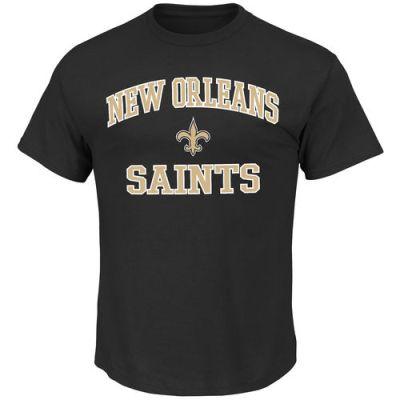 New Orleans Saints Majestic Heart & Soul Black T-Shirt
