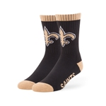 New Orleans Saints 47 Brand Black Bolt Sport Sock