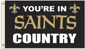 "New Orleans Saints ""You're in Saints Country"" 3' x 5' Flag"