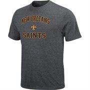 New Orleans Saints Men's Heart & Soul Charcoal T-Shirt