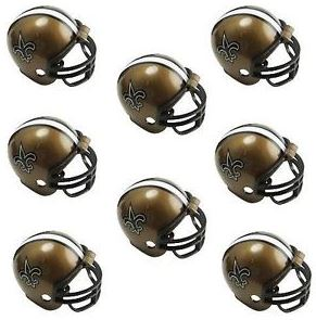 New Orleans Saints Helmets - Game Party Pack (8)