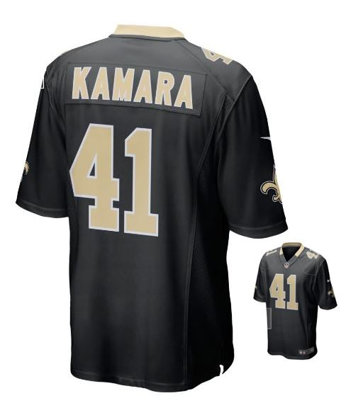 New Orleans Saints Jersey - Black Youth Jersery - Kamara #41