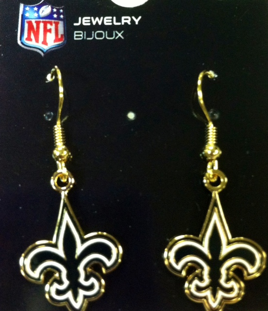 New Orleans Saints Fleur De Lis Earrings-Small