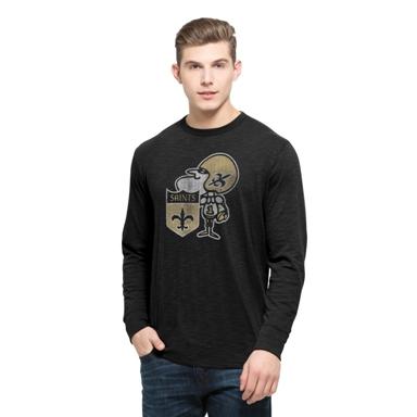 New Orleans Saints 47 Brand Sir Saint Scrum Long Sleeve Black T-Shirt