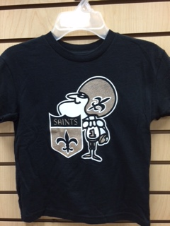 New Orleans Saints Juvenile Sir Saint Short Sleeve T-Shirt
