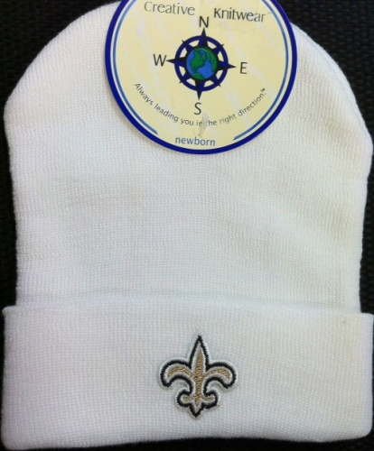 New Orleans Saints Baby Skull Cap