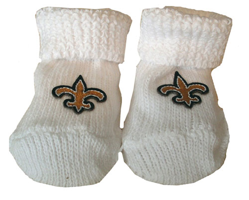 New Orleans Saints Baby Booties