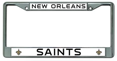New Orleans Saints Chrome Auto Tag Frame