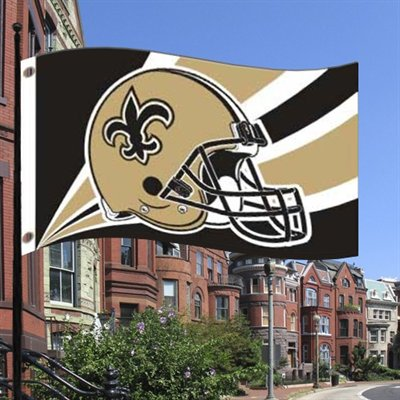 New Orleans Saints Helmet Flag 3' X 5'