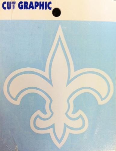 New Orleans Saints Static Cling - White Fleur De Lis