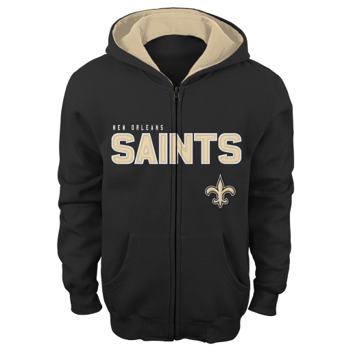 New Orleans Saints Youth Zip Up Hooded Jacket